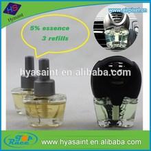 3 refills glass bottle car vent clips perfume air freshener