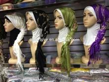 2015 latest thick cotton 180cm x 60cm embroidery muslim long scarf,shawls,islamic hijab syf107