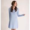 Ladies light blue bird printed pattern comfort lounge dress, nightdress, nightshirt, casualwear, loungewear, sleepwear