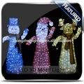 New 3D led ao ar livre iluminado veados decoração de natal