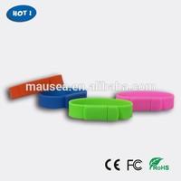 silicone bracelet usb flash drive wrist band hand band usb flash drive hot selling