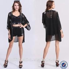 women's clothing manufacturer embroidery design ladies kimono fashion blouses 2015