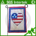 Top-Qualität siebdruck alibaba china American Heart garten flagge