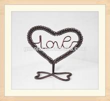 Unique Heart Shape Aluminum Metal Craft for Lover