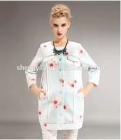 women's full print space cotton cardigan Hoodies/Sweatshirt