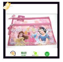 Custom Cotton Canvas Zipper Pencil Bag for Promotion