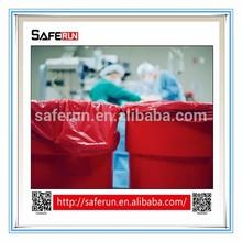 PE plastic material medical waste Biohazard Bags red bag waste