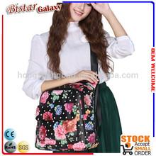 BSB104 Flower Printing teenage girls laptop backpack school backpack 2014