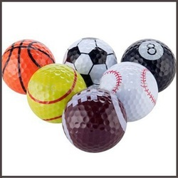 2014 different sports ball pattern golf ball