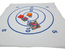 Kids Play Target Bean Bag Toss Game With Mat