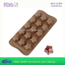 high durable food grade silicone, star shaped chocolate mould