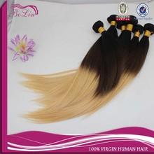 Virgin Brazilian Hair Weave 3 Tone Color Ombre Hair