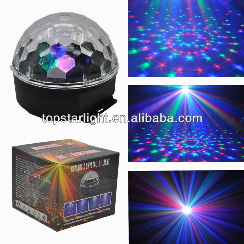 Kapalı led kristal disko topu ışık/yuvarlak kristal top avize