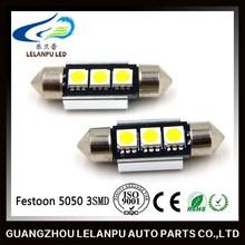 12v 36mm festoon led light 5050 2smd canbus auto led festoon
