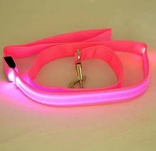 Glow in the dark decorative led dog leashes for chow chow dog