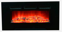 """39"""" wall mounted electric fireplace glass frame, elegant electric fireplace"""