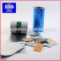 papel de aluminio de colores para embalajes de salud y alimenticios.