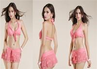 2015 New Fashion Sexy Women's three-Piece Cut Out Monokini Swimsuit Bikini Padded Swimwear