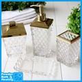Diamant élégante grille design en verre de luxe toilettes et salle de bains ensemble