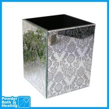 SILVER TOTEM mini luxury decorative rectangular plastic waste bin