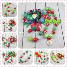 2014 wholesale christmas decorations kids bubblegum christmas necklace chunky christmas necklace