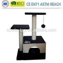 Top quality pet manufacturer stock luxury top sisal cat scratcher / cat tree