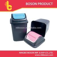 plastic waste bin with swing top