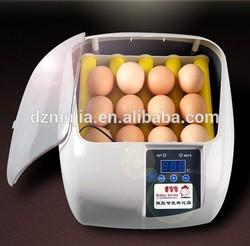 Mujia automatic 360 degree egg turning 12 eggs chicken egg incubator