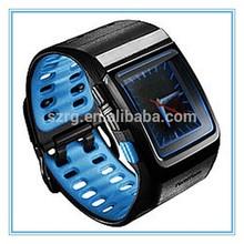 [Blue&Black]Blue backlight/Clock 2014 newest mp3 watch, marketing favorite bluetooth watch, a popular health monitor smartwatch