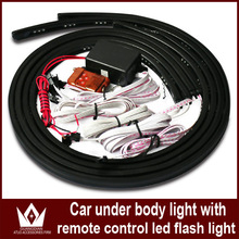 7 Color Under Car LED Glow Underbody System Neon Lights Kit with remote controller