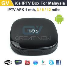 Quad Core i6S IPTV Malaysia Astro Singarpore channel 5 Android Media Player+IPTV APK