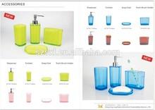 complete luxury bath set, cheap plastic PS bathroom accessories