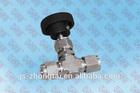 6000psi ss316 stainless steel double ferrule needle valve