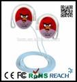 Wired ouvido fone do gancho, gancho de orelha fones de ouvido comimpermeávelimpressão de transferência