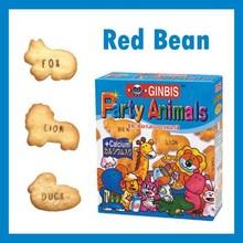 animal forma de frijol rojo galletas de dibujos animados