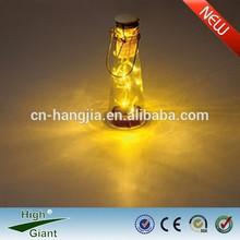 solar outdoor glass bottle lighting