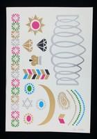 2015 jewel tattoo sticker, many designs water transfer tattoo sticker, complete tattoo kits