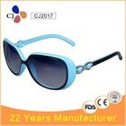 CJ Two Tone Colors Fashion Women Sunglasses customed 2014