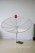 1.7 m c band satellite mesh dish antenna