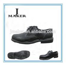 China PVC PU leather black men office shoes