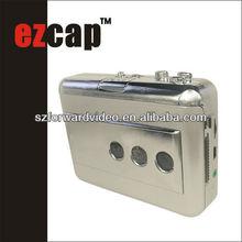 USB Audio Cassette Tape Converter to MP3 CD Player PC,cassette player with auto reverse -ezcap218B