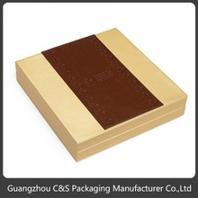 Luxury Elegant Handmade Custom Plastic Cover with PU Jewelry Gift Box
