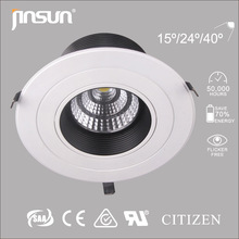 8 inch cutout 205mm rotatable led cob downlight 3 years warranty