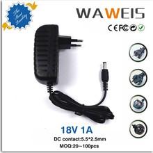 Universal AC 100-240V 18v ac adapter with EU plug 5.5*2.5mm