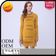 2014 hot selling one piece ladies slim dress plus size for office, latest parti wear dress for girl