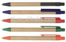 ECO Paper Ball Pens Recycled Promotional Plastic Logo cheap SA8000 SMETA 4 pillar audit China factory environmental friendly pen