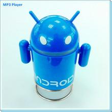 Android Robot Portable mini card speaker MP3 Player with Speaker Stereo FM Radio USB Speaker