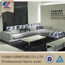 home fabric purple sectional sofa