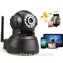 p2p wifi plug&play motion detection pan/tilt ip camera with night vision
