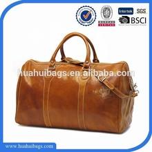 2015 OEM stylish brown men leather travel bag